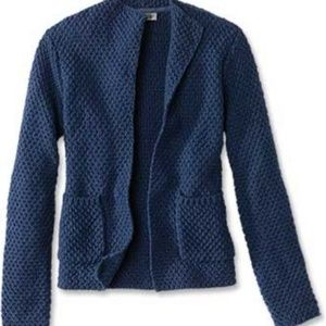 Orvis Indigo Blue Natural Wonders Sweater Jacket